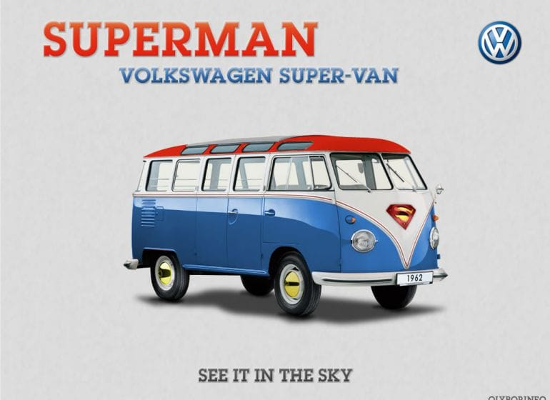 VW Combi Superman